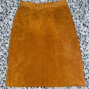 Tan Vintage -real suede high waisted skirt 25